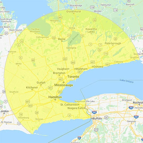 specialty restoration map Toronto an surrounding areas